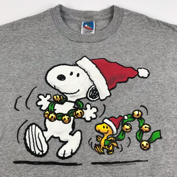 Snoopy And Woodstock Christmas Images.Snoopy Woodstock Christmas T Shirt Adult L Men S M